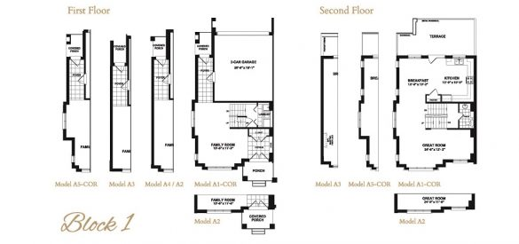 Taunton Gate Block 1 Floor Plans 1
